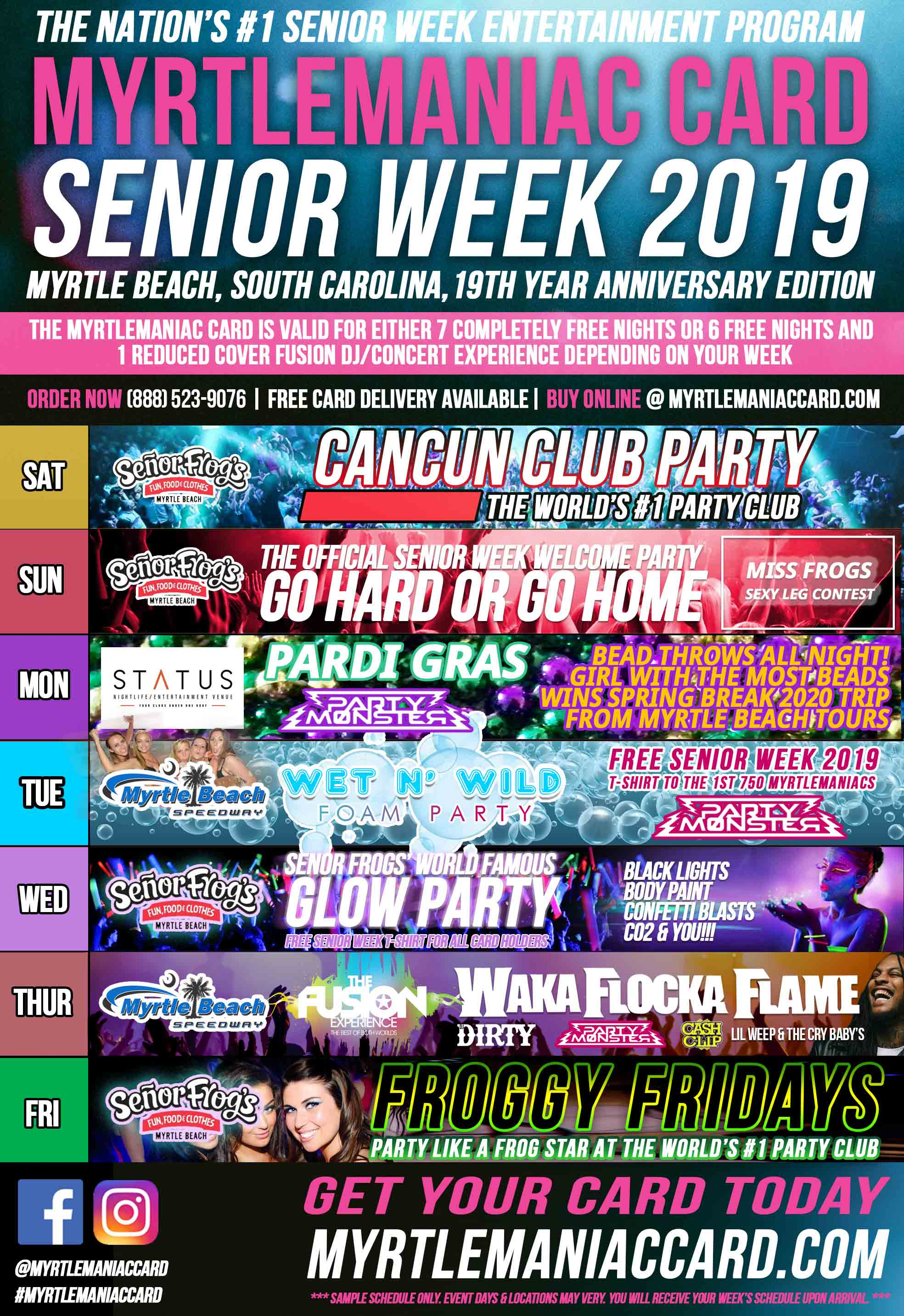 2019-senior-week-Myrtlemaniac-sample-schedule