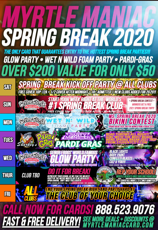 Myrtle Beach Spring Break 2020